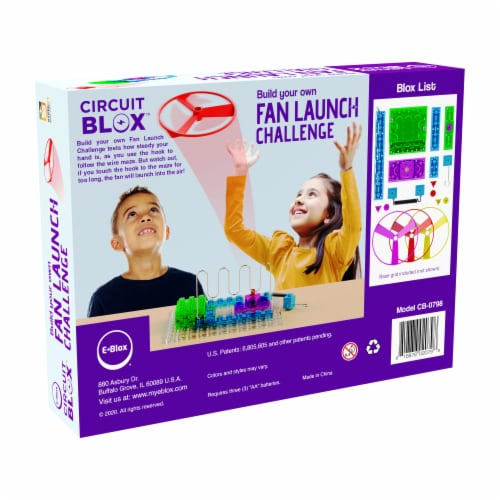 E-Blox Circuit Blox Build Your Own Fan Launch Challenge Kit Perspective: right