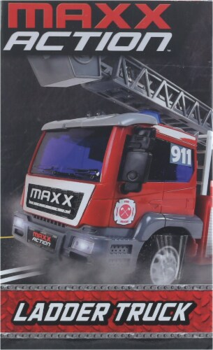 Maxx Action Realistic Lights and Sounds Trucks - Fire and Rescue Series Perspective: right