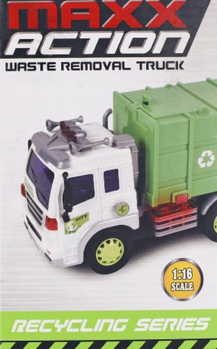Maxx Action Realistic Lights and Sounds Truck - Recycling Series Perspective: right