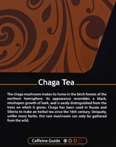 Buddha Teas Organic Chaga Herbal Tea Perspective: right