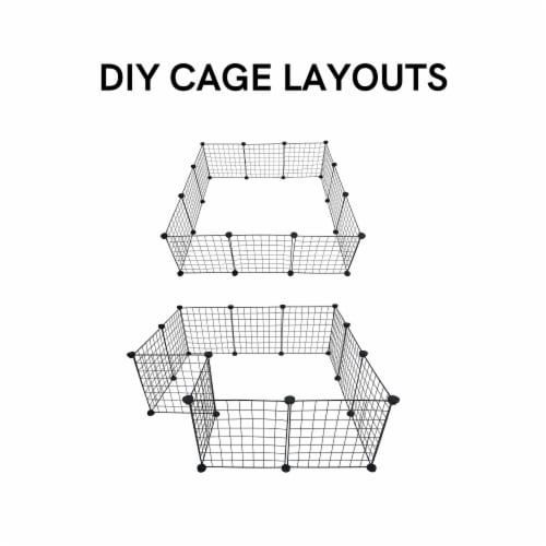 Midlee Guinea Pig Grid Cage Panels- Set of 12 Perspective: right