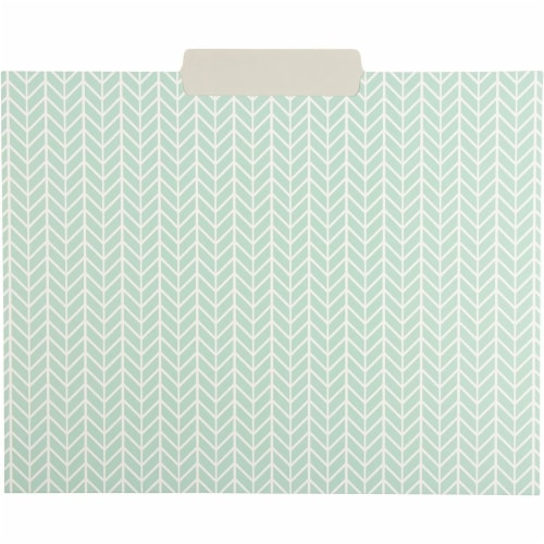 File Folders with Geometric Design, Letter Size (9.5 x 11.5 Inches, 12 Pack) Perspective: right