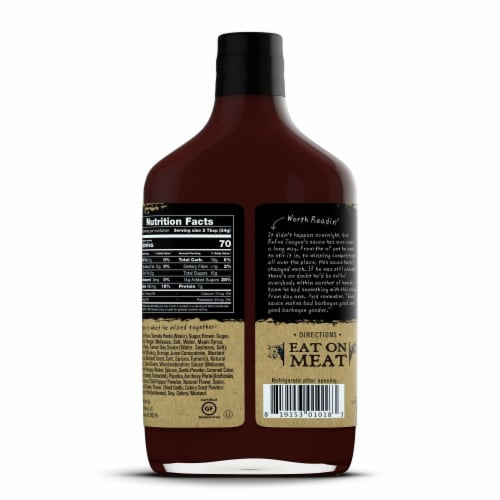 Rufus Teague Whiskey Maple BBQ Sauce Perspective: right