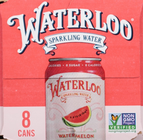 Waterloo Watermelon Sparkling Water Perspective: right