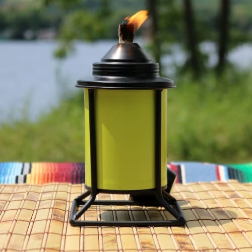 Sunnydaze Multi-Color Outdoor Backyard Patio Tabletop Metal Torches - Set of 4 Perspective: right