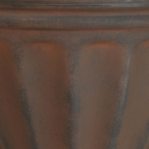 """Sunnydaze Charlotte Outdoor Double-Walled Flower Pot Planter - Rust -16""""- Single Perspective: right"""