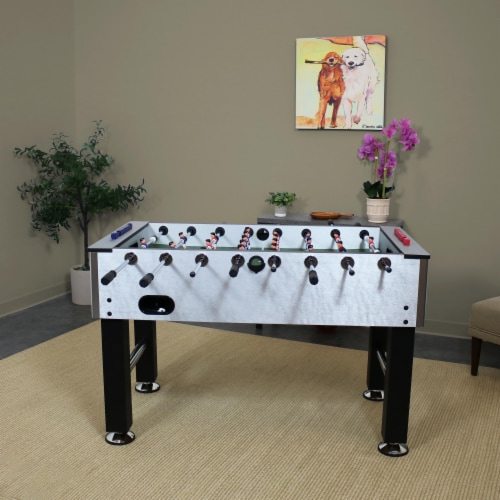 """Sunnydaze 55"""" Metallic Foosball Soccer Arcade Sports Table for Game Room Perspective: right"""