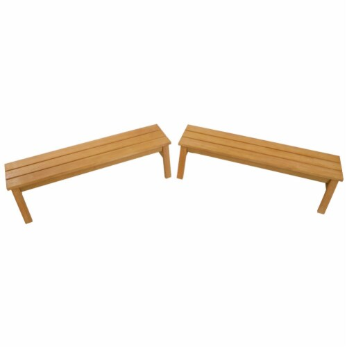 Kaplan Early Learning Outdoor Wooden Stacking Benches  - Set of 2 Perspective: right