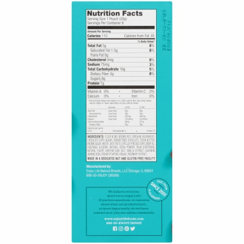 Enjoy Life Double Chocolate Brownie Soft Baked Mini Cookies Perspective: right