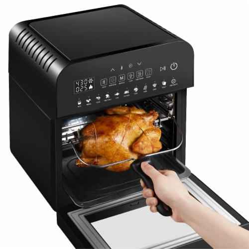 GoWISE USA Ultra 12.7-Quart Electric Air Fryer Oven, Black Perspective: right