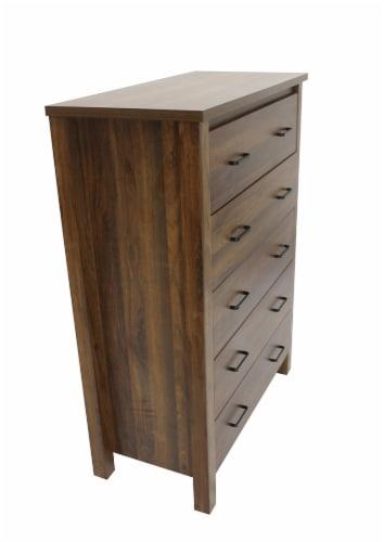 Slide Logic 5-Drawer Dresser - Cocoa Walnut Perspective: right