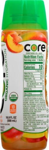 Core Organic Peach Mango Enhanced Beverage Perspective: right