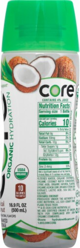 Core Organic Hydration Tropical Coconut Nutrient Enhanced Water Beverage Perspective: right