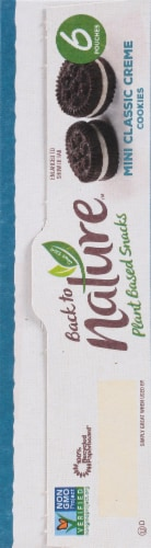 Back to Nature™ Plant Based Mini Classic Creme Cookies Perspective: right