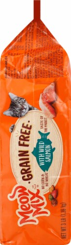 Meow Mix Grain Free with Wild Salmon Dry Cat Food Perspective: right
