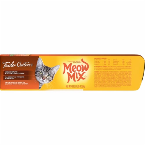 Meow Mix Tender Centers Salmon and Chicken Dry Cat Food Perspective: right