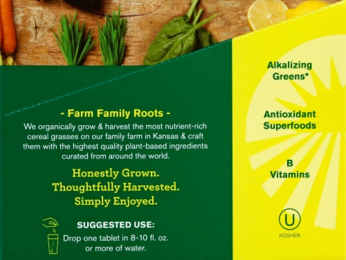 Amazing Grass Green Superfood Lemon-Lime Effervescent Greens Tablets Perspective: right