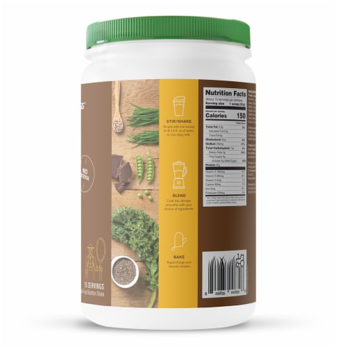 Amazing Grass Organic Smooth Chocolate Protein & Kale Powder Perspective: right