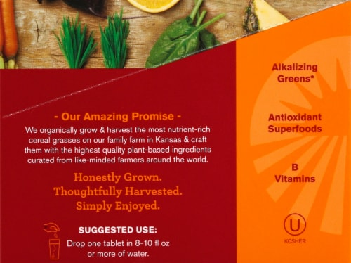 Amazing Grass Green Superfood Energy Tropical Effervescent Greens Perspective: right