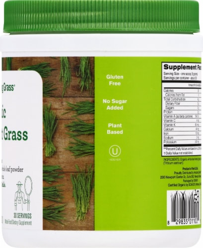 Amazing Grass Organic Wheat Grass Whole Food Dietary Supplement Powder Perspective: right
