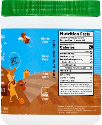 Amazing Grass Kidz Chocolate SuperFood Drink Powder Perspective: right