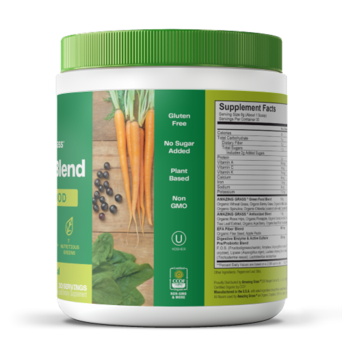 Amazing Grass Green Superfood Original Whole Food Dietary Supplement Powder Perspective: right
