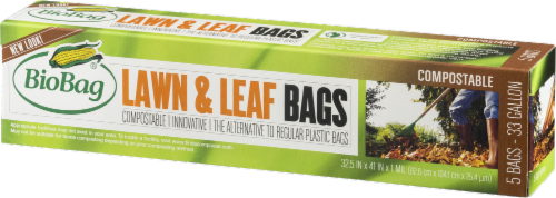 BioBag Compostable 33 Gallon Lawn & Leaf Bags Perspective: right