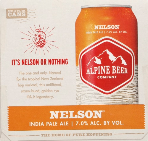 Alpine Beer Company Nelson IPA Beer Perspective: right
