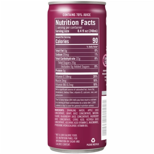 IZZE Sparkling Juice Beverage Blackberry Flavored Juice Drink Perspective: right