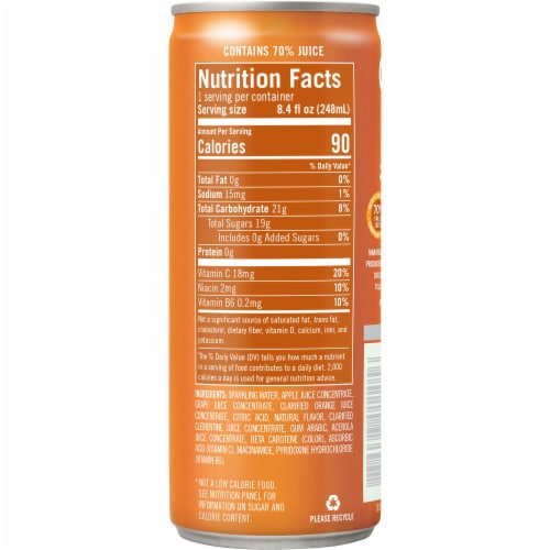 IZZE Sparkling Clementine Flavored Juice Drink Perspective: right