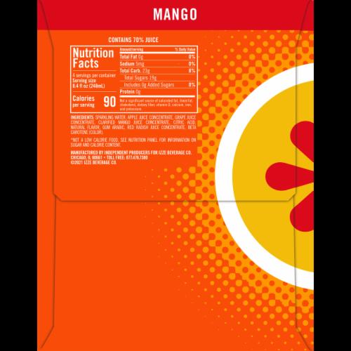 Izze Mango Flavored Sparkling Juice Beverage Perspective: right