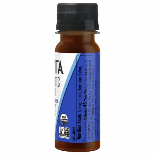 KeVita Blueberry Mint Prebiotic Shot Perspective: right