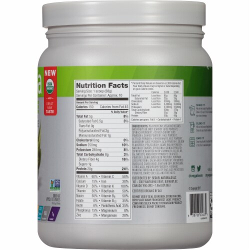 Vega One Plain All-in-One Shake Drink Mix Perspective: right