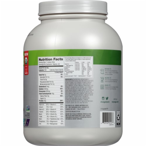 Vega One Organic All-In-One Chocolate Shake Drink Mix Perspective: right