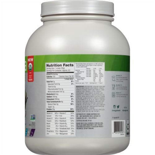 Vega One Organic All-In-One French Vanilla Shake Drink Mix Perspective: right