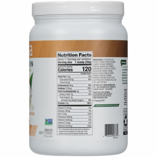 Vega Protein & Greens Plant-Based Coconut Almond Flavored Drink Mix Powder Perspective: right