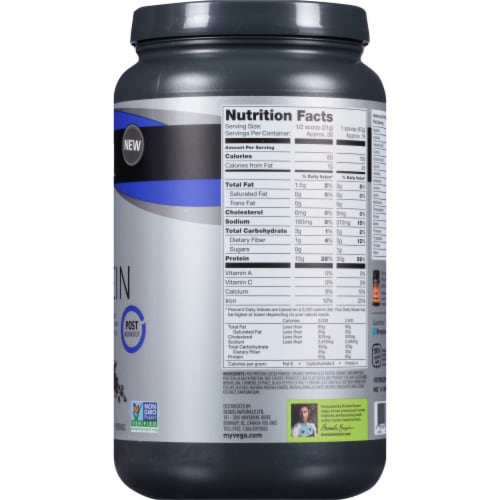 Vega Sport Plant-Based Performance Protein Mocha Drink Mix Powder Perspective: right