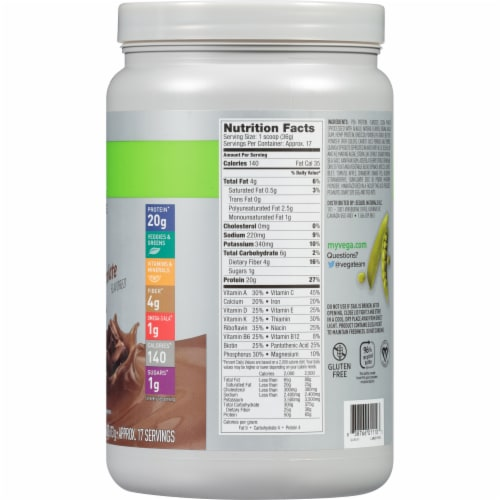 Vega Essentials Shake Chocolate Drink Mix Perspective: right