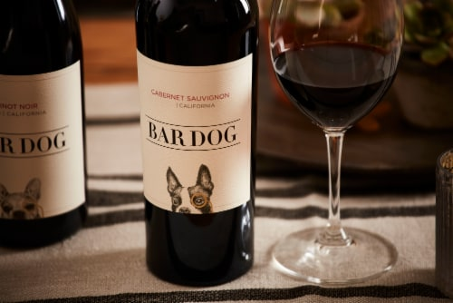Bar Dog Cabernet Sauvignon Red Wine Perspective: right