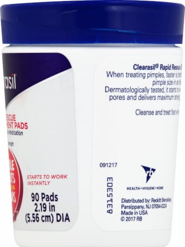 Clearasil Rapid Rescue Deep Treatment Pads Perspective: right