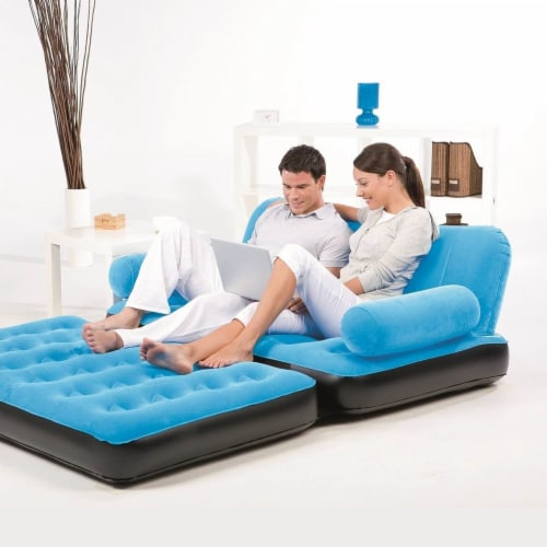 Bestway Multi-Max Inflatable Air Couch or Double Bed with AC Air Pump (3 Pack) Perspective: right