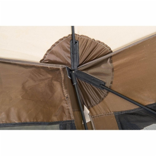 Clam Quick Set Traveler Camping Outdoor Portable Gazebo Canopy Shelter (2 Pack) Perspective: right