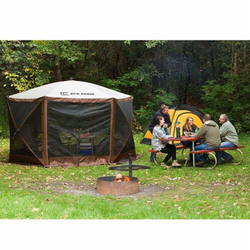 Clam Quick Set Escape Portable Camping Outdoor Canopy Screen with 6 Wind Panels Perspective: right
