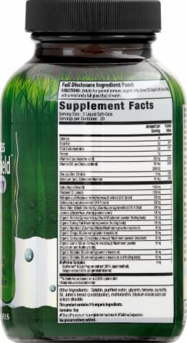 Global Wellness Immuno-Shield with Elderberry Liquid Soft-Gels Perspective: right