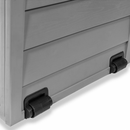 All Weather Outdoor Patio Deck Box Storage Shed Bin w/ Wheel Perspective: right
