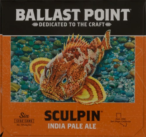 Ballast Point Sculpin India Pale Ale Beer Perspective: right