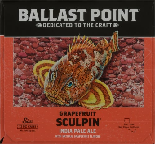 Ballast Point Grapefruit Sculpin India Pale Ale Beer Perspective: right