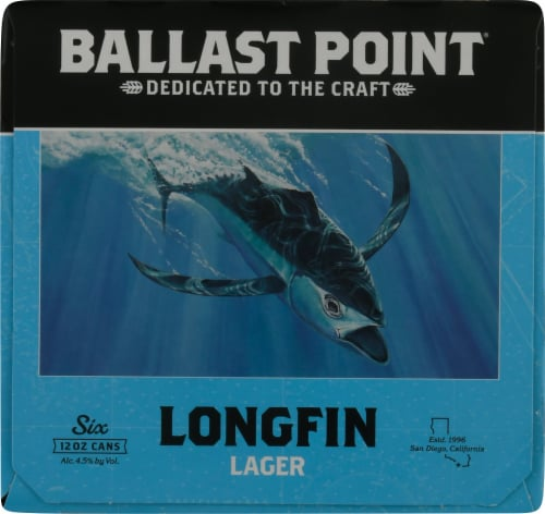 Ballast Point Longfin Lager Beer Perspective: right