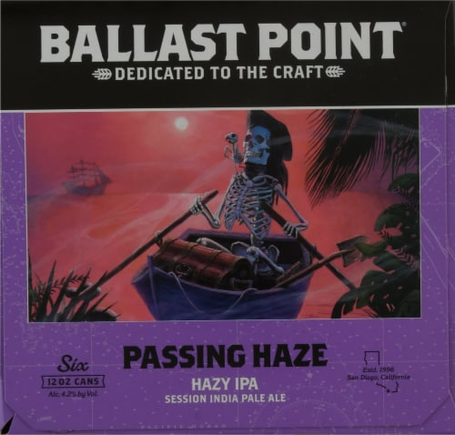 Ballast Point Passing Haze Hazy IPA Beer Perspective: right