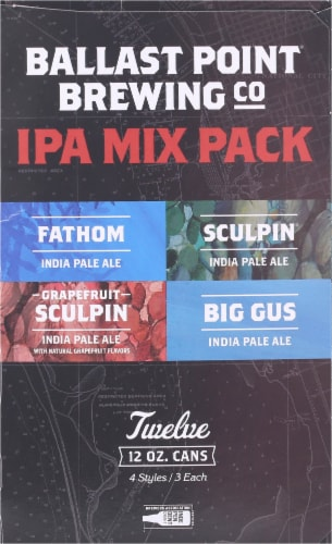 Ballast Point IPA Beer Mix Pack Perspective: right